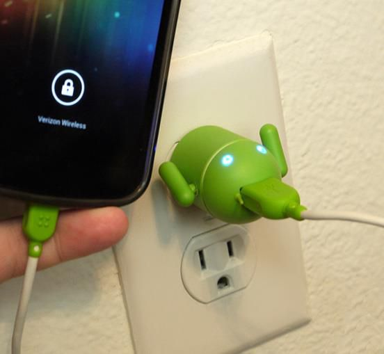 Andru Android Robot USB Cell Phone Travel Charger  http://www.lovedesigncreate.com/andru-android-robot-usb-cell-phone-travel-charger-retail-packaging-green/