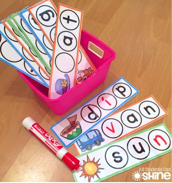 Great for beginning, middle, ending, and short vowel sounds!