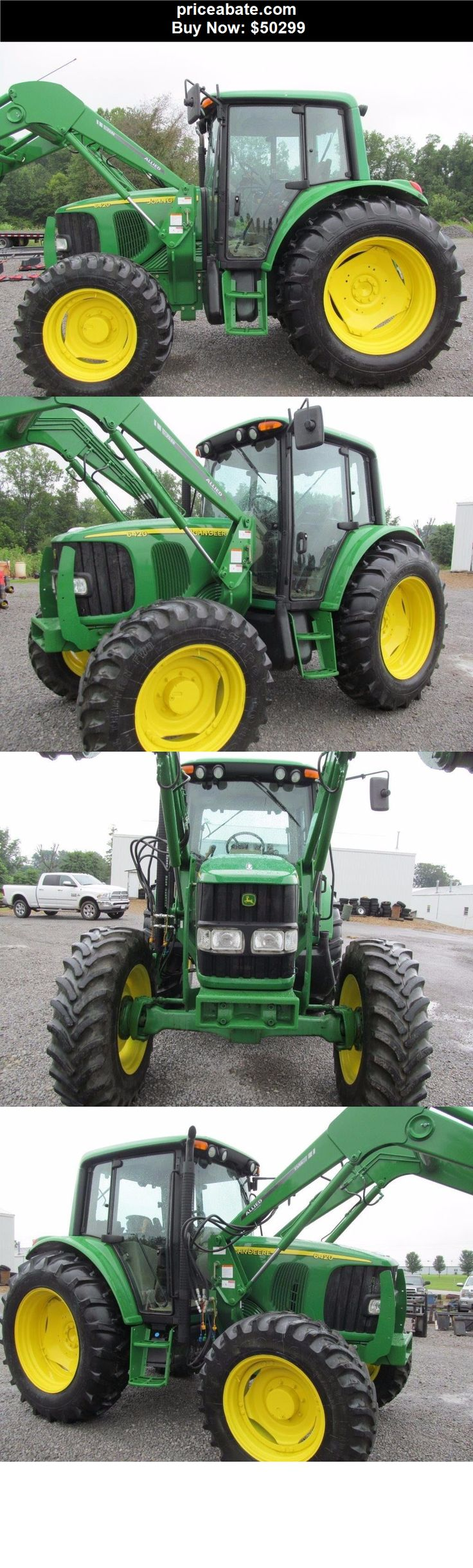 Heavy-Equipments: John Deere 6420 Diesel Tractor 4 X 4 With Cab & Corner Exhaust - BUY IT NOW ONLY $50299