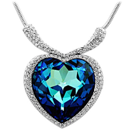 Heart of The Ocean Necklace - Imagine your partner's reaction when you present them with the Heart of The Ocean! This iconic necklace from the Titanic Film is bound to leave them speechless!