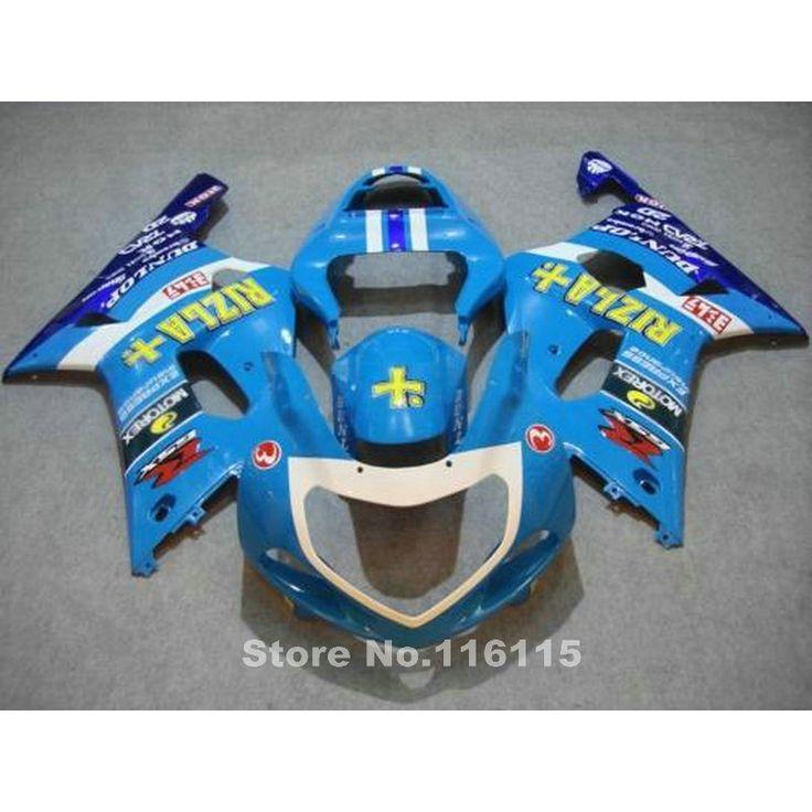 (330.28$)  Watch more here - http://aiw9y.worlditems.win/all/product.php?id=32608957190 - Fairings bodywork for SUZUKI GSXR600 GSXR750 K1 2001 2002 2003 bodykits GSXR 600 750 01 02 03 all blue RIZLA+ fairing kit TY10
