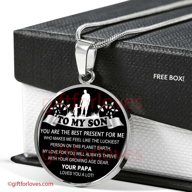 To My Son Necklace Gifts Son Idea Gifts For Son Best Gifts