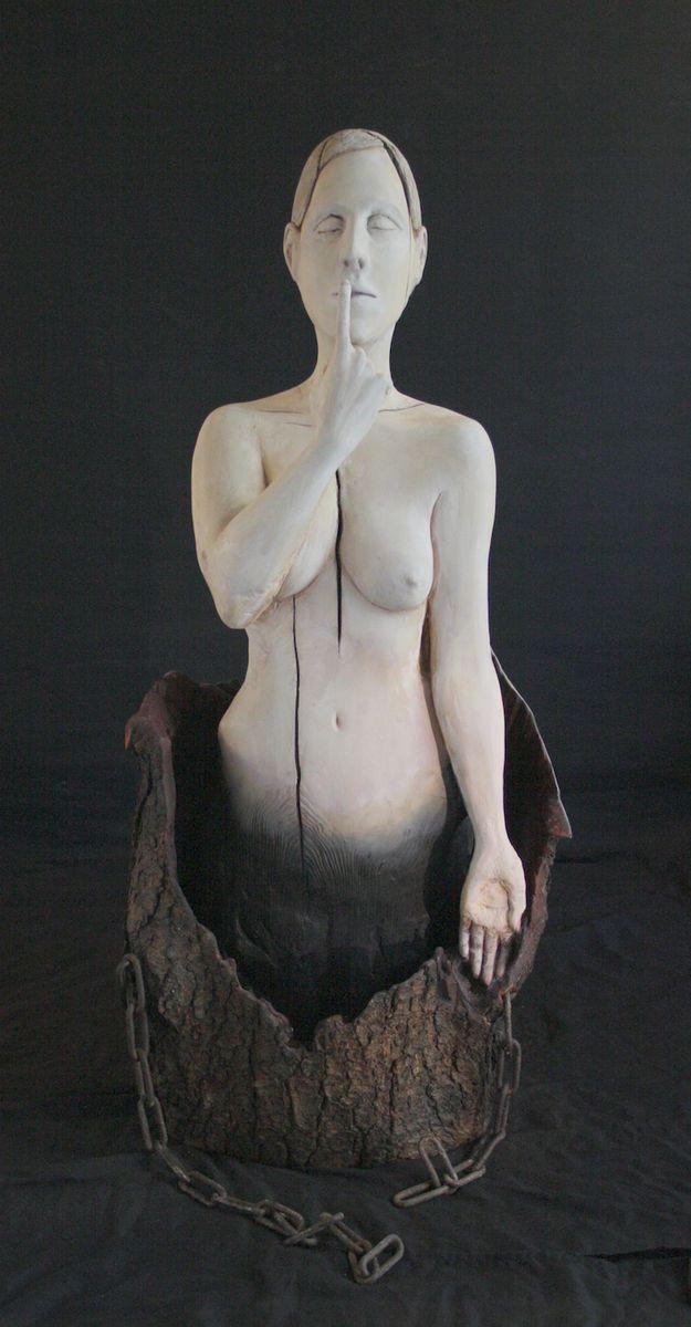 Muisto, 2012 by Essi Korva. Wood, paint. For sale, inquiries: sari.seitovirta@seitsemanvirtaa.com / GALERIE SEITSEMÄN VIRTAA