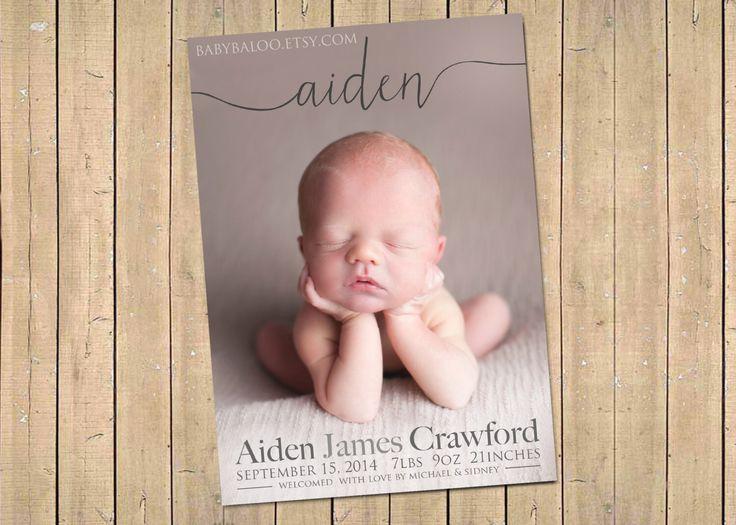 62 best Announcement Cards images – Unique Birth Announcement Cards