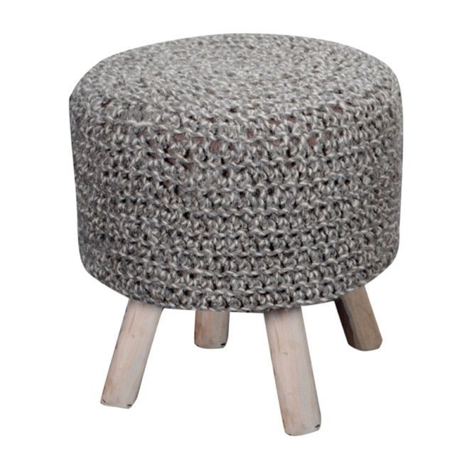 Christopher Knight Home Montana Knitted Round Ottoman Stool