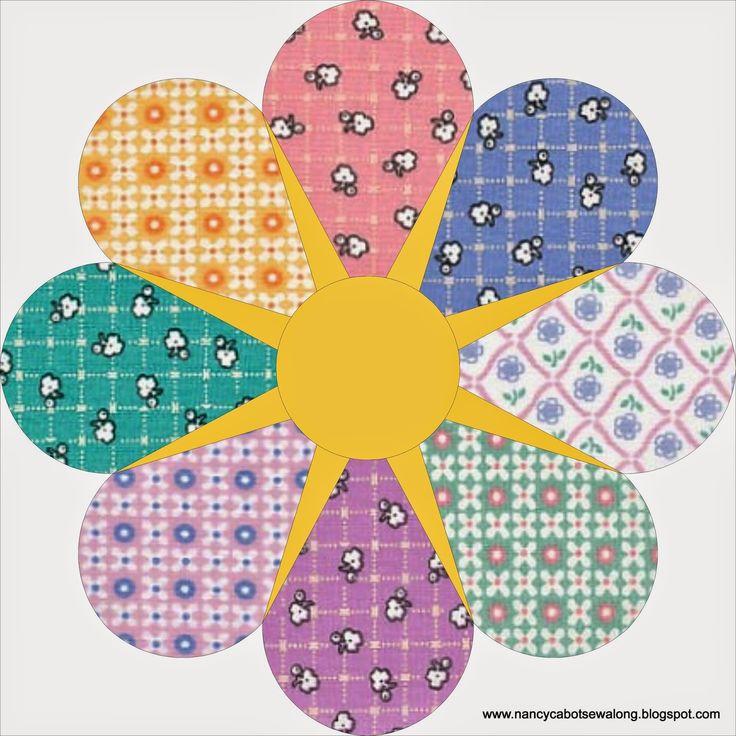 43 best Nancy Cabot, Laura Wheeler and Ruby McKim quilts images on ... : star flower quilt block pattern - Adamdwight.com