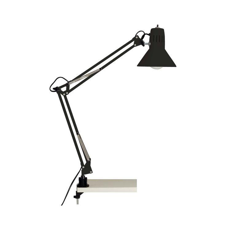 Hobby - Lampes de bureau-Bureau Lampe de bureau articulée en métal noir