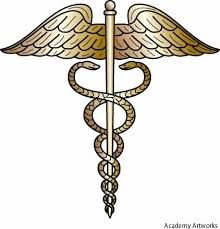 The Caduceus was carried by Hermes and the two snakes were meant to symbolize him going back and forth from the world of the living and the world of the dead