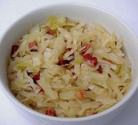 Chefkoch.de Rezept: Warmer Krautsalat