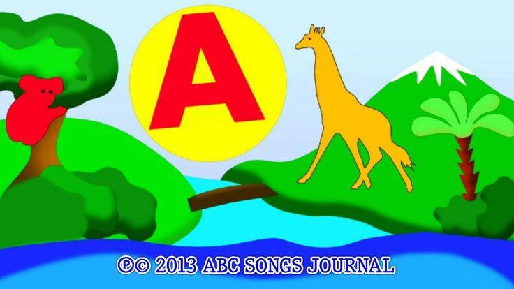Английский язык для малышей. Английский алфавит. Детская песенка и буква А. Круг и животные жираф и панда