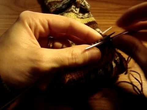 Leçon de tricot - Méthode de Grafting (remaillage) pour fermer la pointe de la chaussette