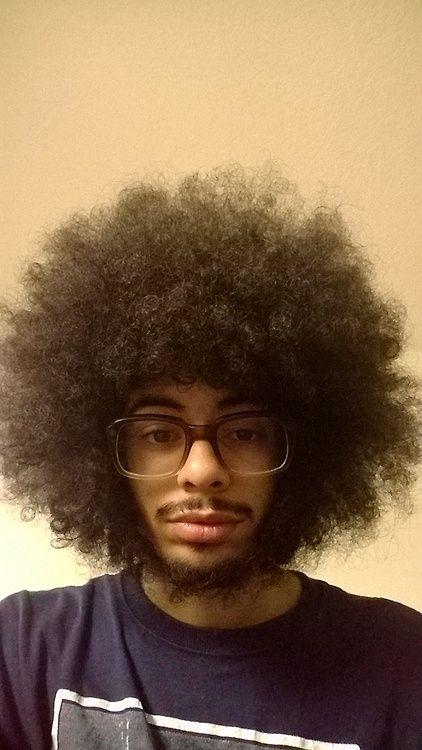 man afro hair dreads