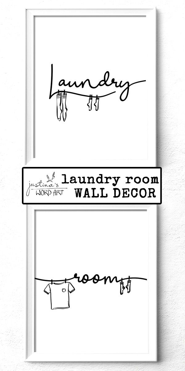 Laundry Room Decor Set Of 2 Prints Printable Laundry Room Art