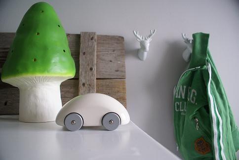 The Zoo hertjeskapstokken en figuurlamp paddenstoel groen