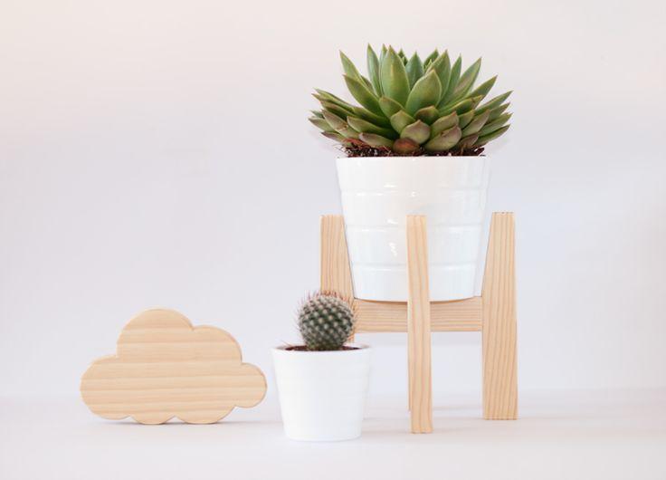 The Crazy Craftsman Nubes decorativas de madera y portamaceta / Decorative wooden Clouds