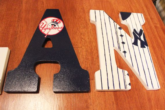 New York Yankees Hand paintd Personalized by KarinsCustomCrafts, $14.00