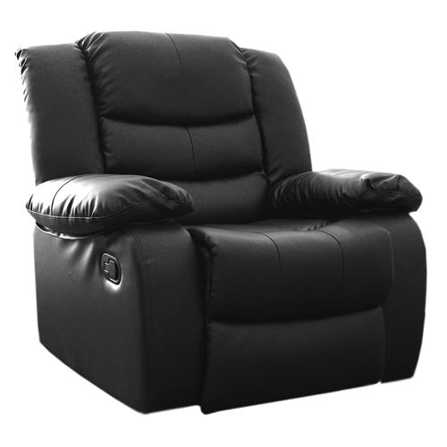 Melbournians Furniture Recliner Leather Couch Lounge Sofa