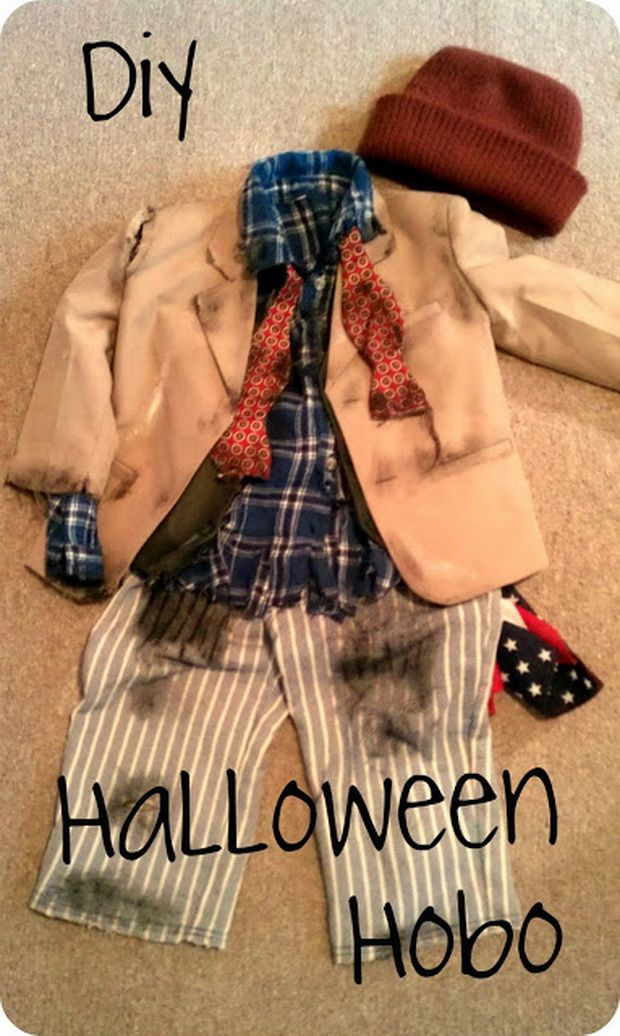 DIY Interesting halloween costumes for kids , Halloween Hobo Costume