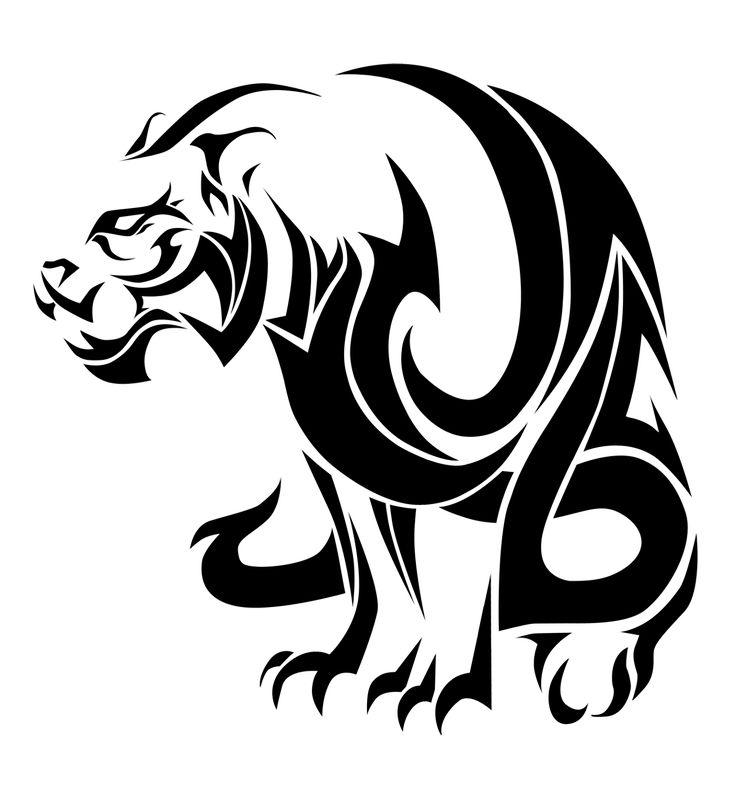 tiger: tribal style by ice-vision.deviantart.com on @deviantART