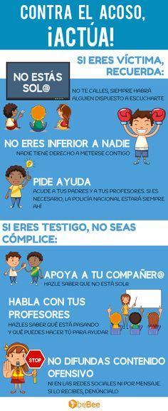 Comparte esta infografía y ayuda a vencer al bullying #Infografía #Bullying