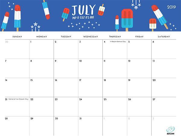 2020 Foodie Printable Calendar For Moms Printable Calendar