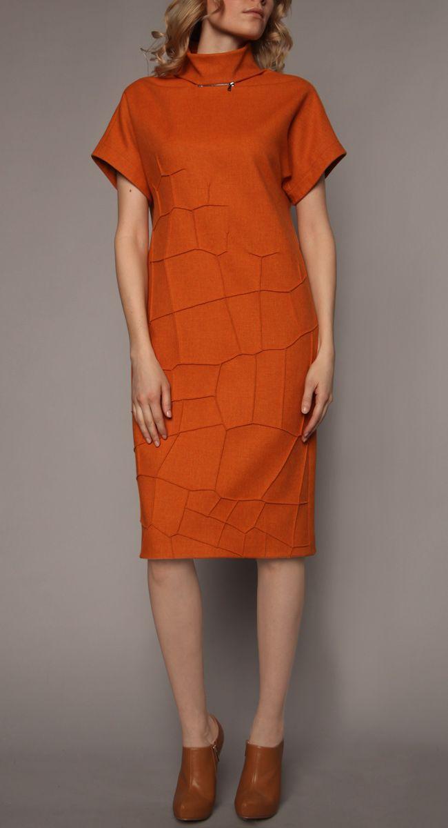 """Платье с рельефом """"крокодиловая кожа"""""""