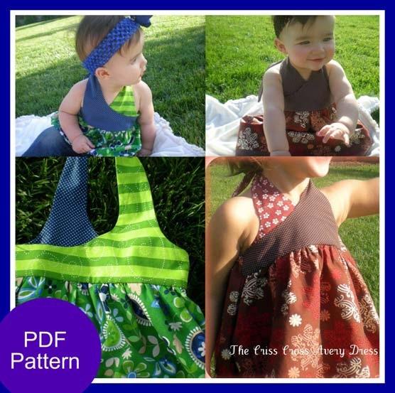 The Criss-Cross Avery Dress  12 months - 5T