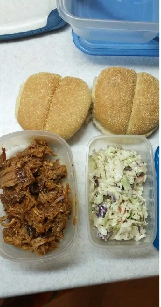 My spin on a classic! Pulled pork sandwiches are perfect for weekday lunches because they don't need to be reheated and it's a nice alternative to normal lunch meat. Check out my recipe…