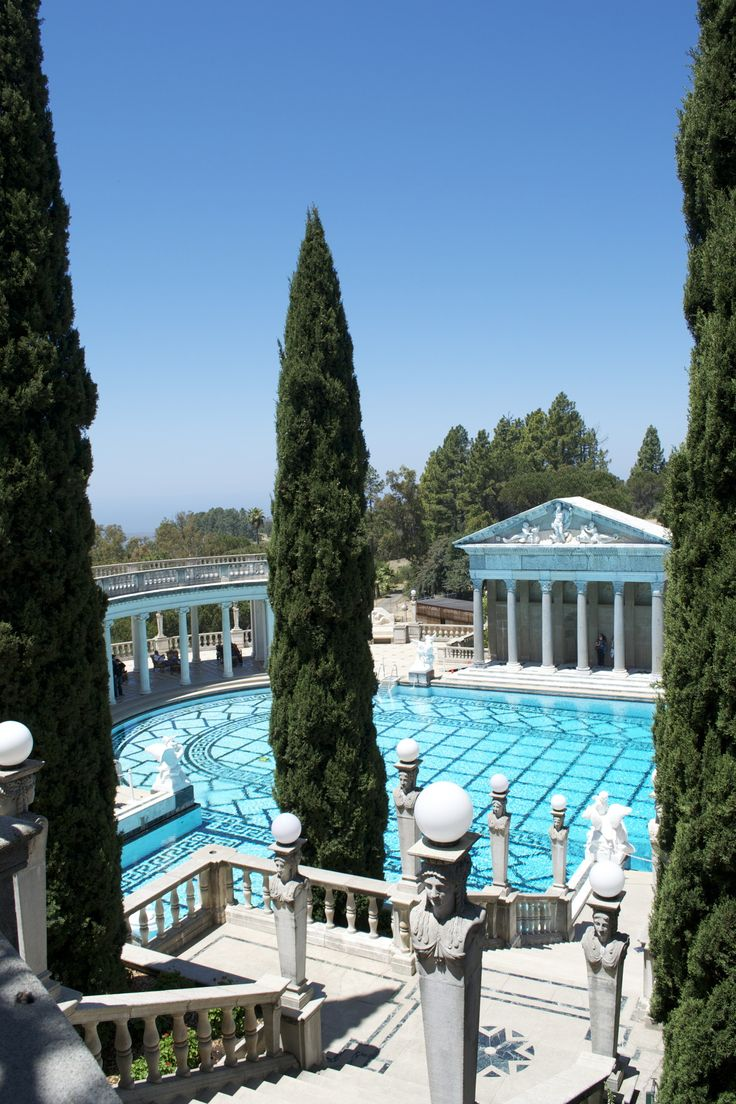 1000 images about outrageous pools on pinterest - Hearst castle neptune pool swim auction ...