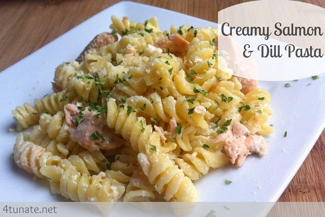 Easy creamy salmon and dill pasta