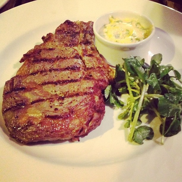 35 days aged, Cumbrian rare breed rib of beef with Bearnaise sauce at The Well - Clerkenwell .@Trang Phan (Trang Phan) s Instagram photos | Webstagram - the best Instagram viewer