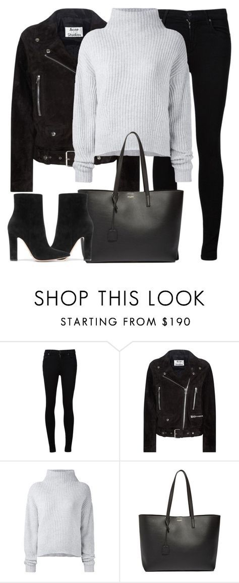 """Untitled #2968"" by elenaday ❤ liked on Polyvore featuring Citizens of Humanity, Acne Studios, Le Kasha, Yves Saint Laurent and Gianvito Rossi"