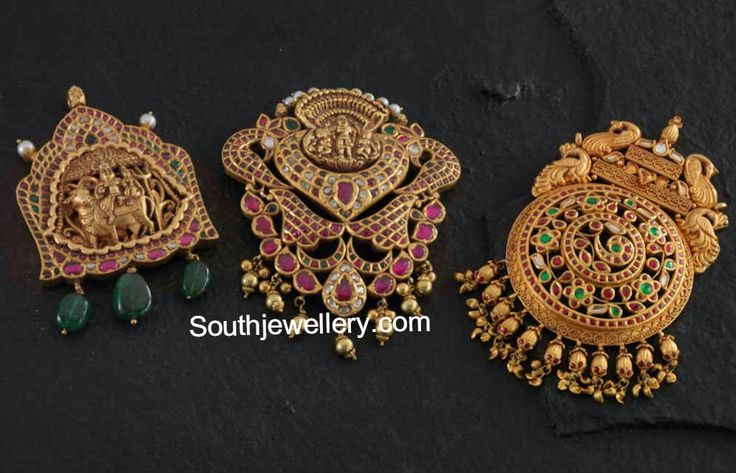 antique temple jewellery pendants