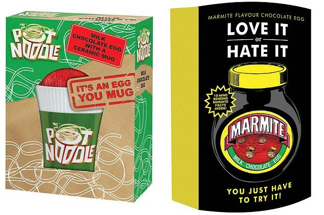 Love it or hate it? Marmite and Pot Noodle are both bringing out chocolate Easter eggs this year. We're surprisingly intrigued by the Marmite Easter Egg.