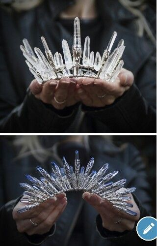 Natural crystal crowns from Elemental Child. For that forrest wedding.