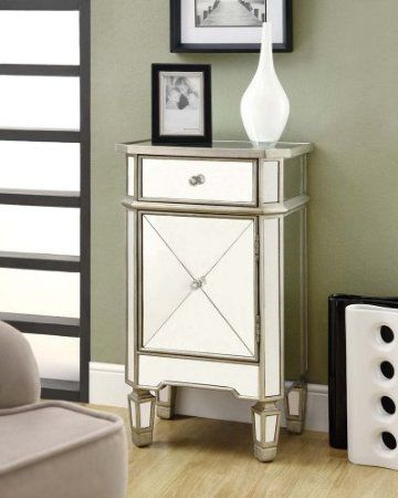 Great Amazon Monarch Specialties Drawer Accent Cabinet Mirrored