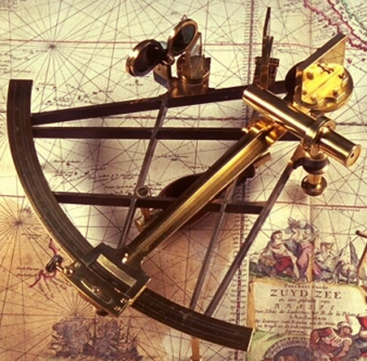 Sextant. / Share while teaching CARRY ON, MR. BOWDITCH by Jean Lee Latham -- the LitWits way! / For unique hands-on literature activities and DIY LitWits Kits (with prop and project ideas, takeaway topics, printables and keys), visit http://www.litwitsworkshops.com/free-resources/