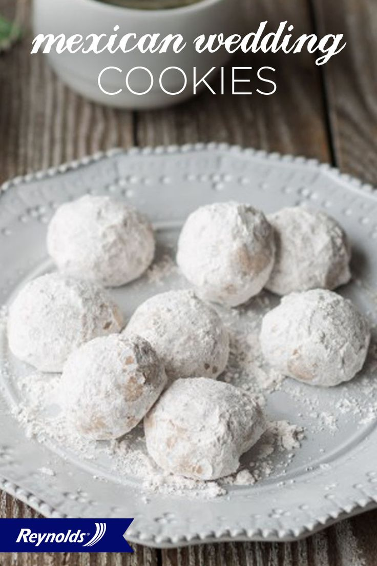 These Polvorones, or Mexican Wedding Cookies, add a unique and delicate walnut flavor to every cookie plate! They're buttery, light, and coated in a thin layer of powdered sugar, making them irresistible and perfect for any occasion. To bake cookies that don't stick to your pan, line your baking sheet with Reynolds Parchment Paper! Available in rolls or pre-cut sheets, it makes for fast, easy cleanup.