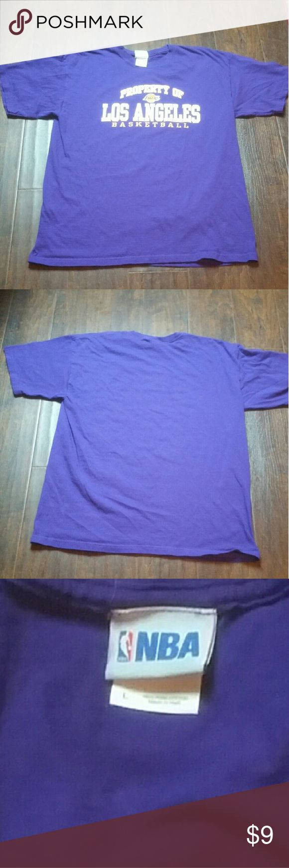 Property of Los Angeles Lakers T Shirt Property of Los Angeles Lakers T Shirt that is in great shape. Looks unused. NBA   Shirts Tees - Short Sleeve