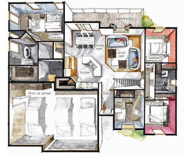 30 best floor plan croissant boryana ilieva images on for Interior design sketch images