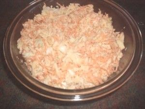 Coleslaw recipe.  This is one that children will like.  It has no onion in it. For the recipe see: http://www.cheap-and-easy-recipes.com/individual-recipes/coleslaw.php