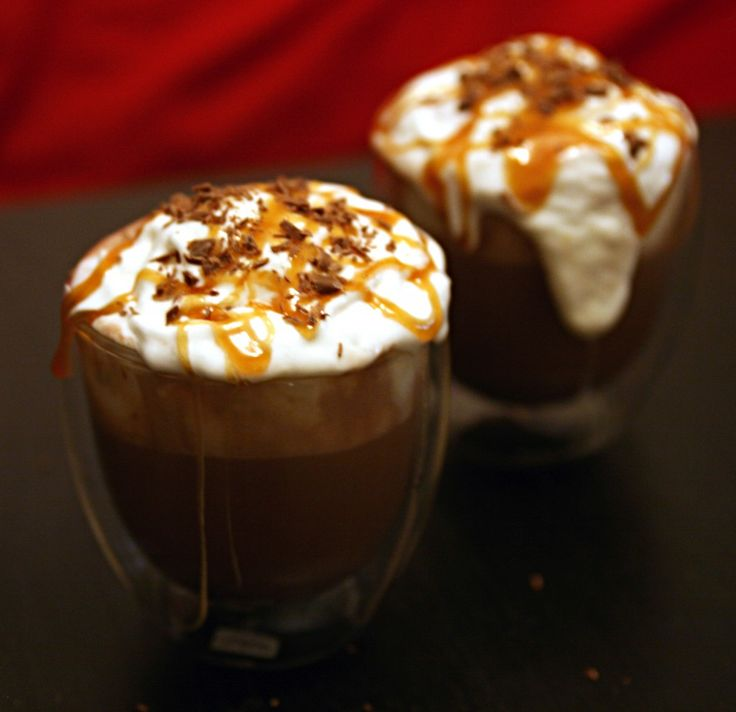 Adult Salted Caramel Hot Chocolate Float perfect for the next girls night fire pit #WerthersCaramel and #Caramel