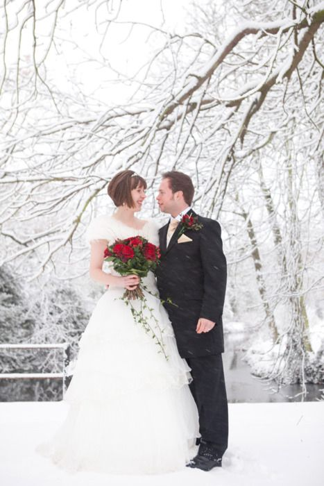 Posed couple in the snow shot by Claire Pepper www.clairepepperweddings.co.uk London based fashion photographer shooting weddings