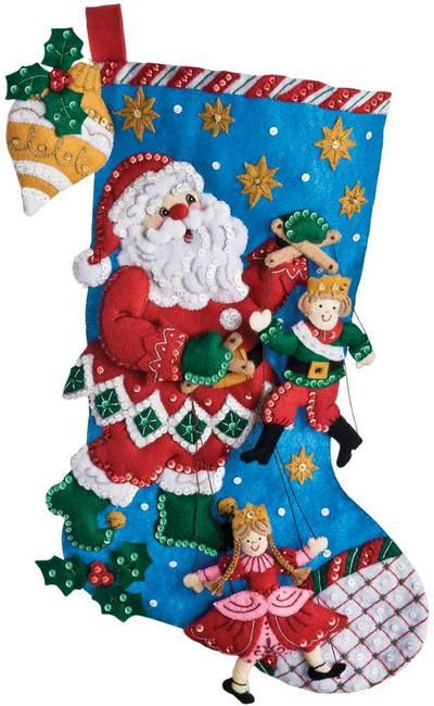 Felt Applique Christmas Stockings and Ornaments (Page 2)