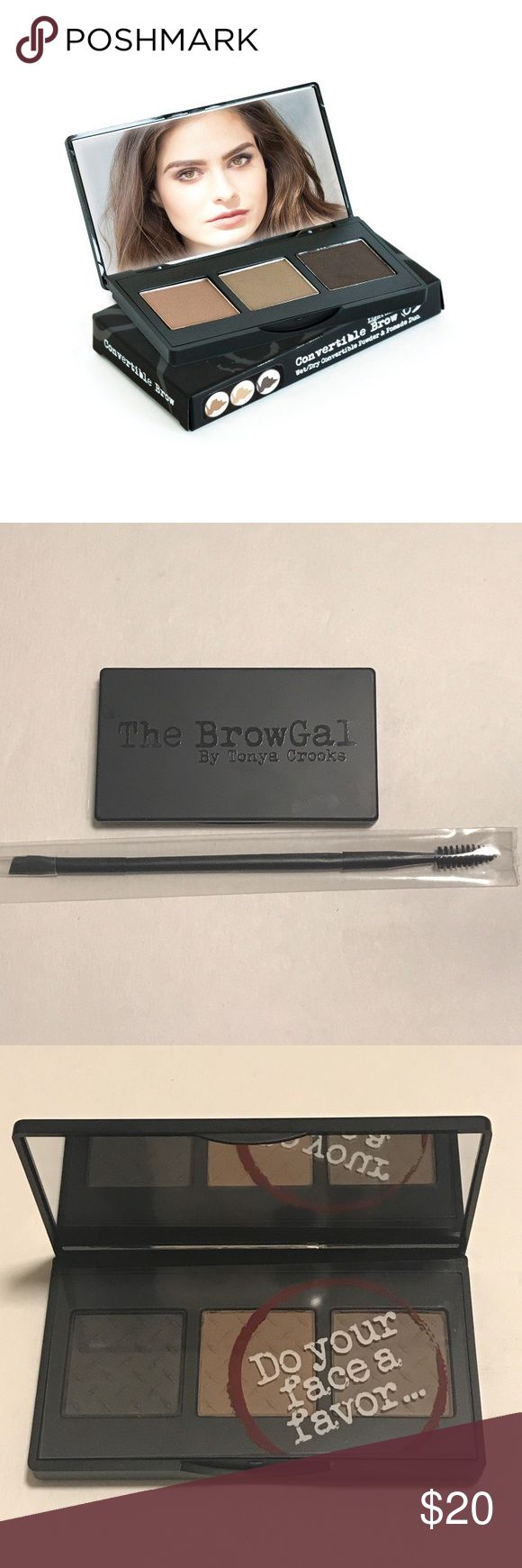 The BrowGal Eyebrow Kit Brand new! Includes duel ended eyebrow brush/spooling. Color: dark brown, taupe, light brown Makeup Eyebrow Filler