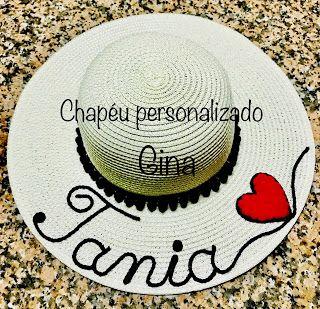 Chapéu Personalizado  Tania Chapéu De Praia Personalizado 54ad60a165a