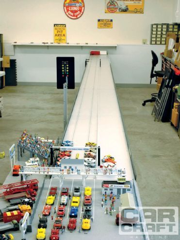 Ccrp 1105 02 O+slot Car Drag Racing+the Full Race Track