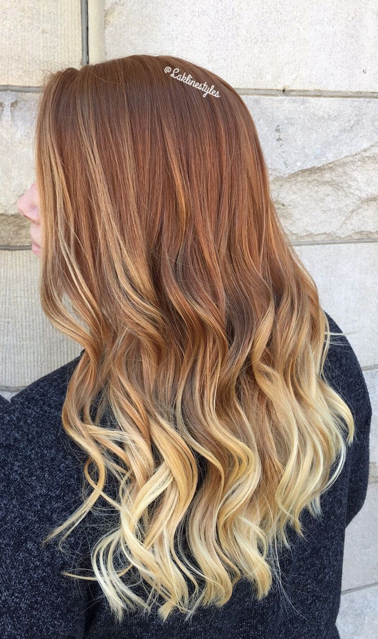 Natural Red Ombre Blonde Ombre Hair Blonde Red Blonde Hair