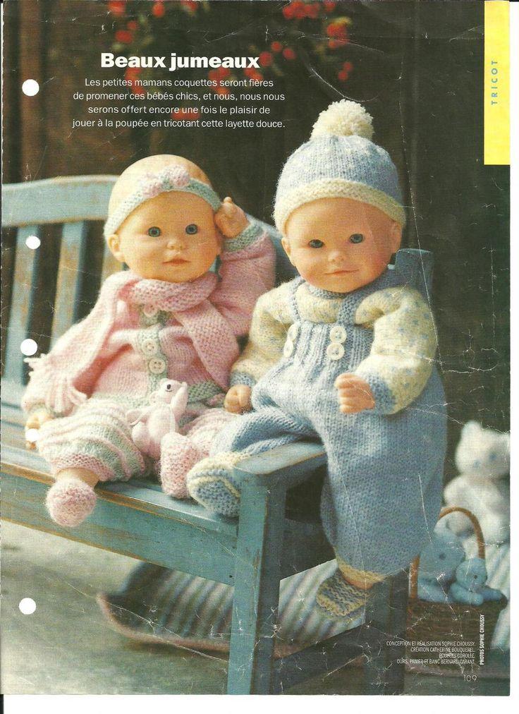PAR AMOUR DES POUPEES :: poupon (type Câlins malins Corolle) 30 cm : 2 trousseaux déc. 1995