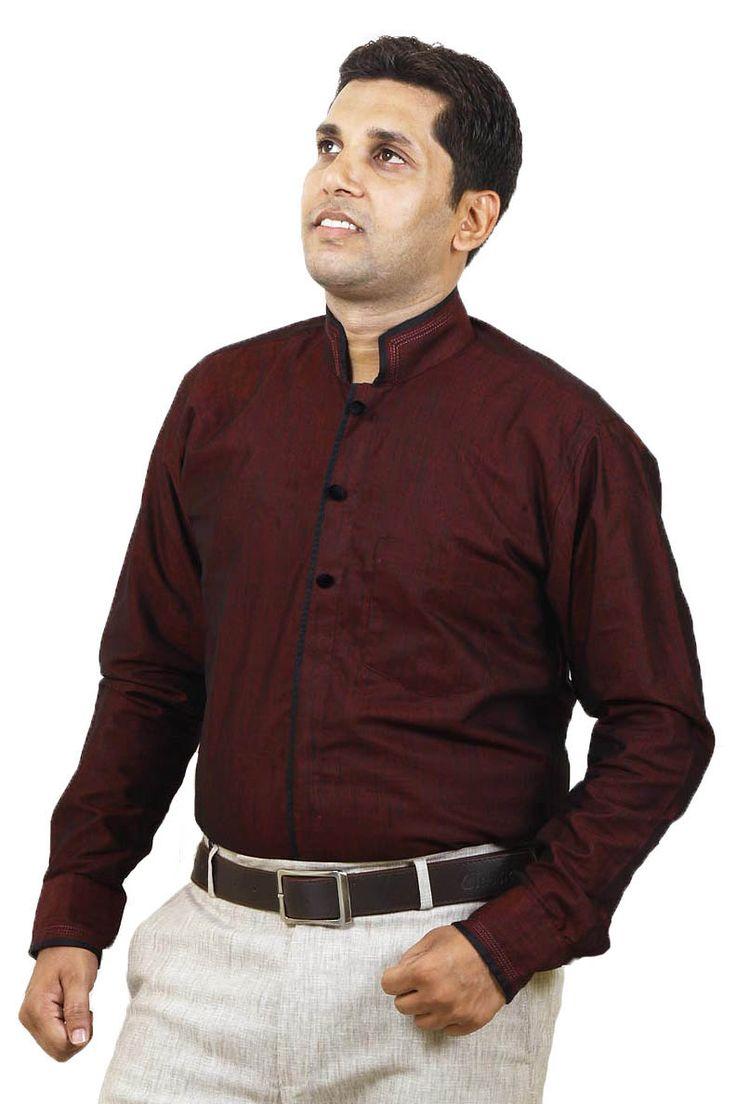 https://t.co/mayUWJqrGj Buy Online SENSATION Attractive Maroon Linen Party Wear Shirts at GetAbhi.com